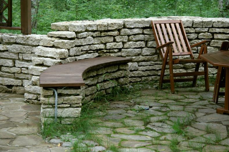 Опорные стены из камня своими руками